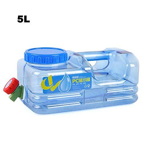 5L Wassertank Trinkwasser Behälter mit festmontiertem Ablasshahn/Wasserauslauf für Wandern Camping Picknick Travel