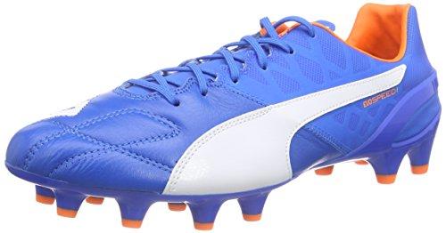 Puma evoSPEED 1.4 Lth FG, Herren Fußballschuhe, Blau (electric blue lemonade-white-orange clown fish 02), 45 EU (10.5 Herren (Blau Erwachsene Schuhe Clown)
