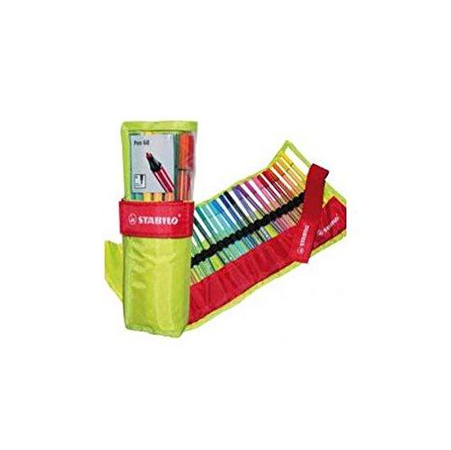 stabilo-pen-68-rotolo-di-nylon-25-colori-assortiti-verde