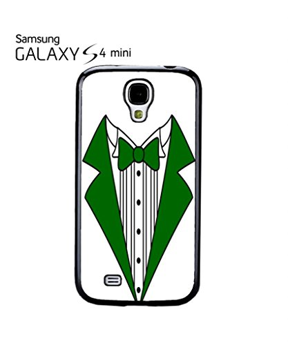 Tuxedo Suit Bow Tie Green Red Party Cool Funny Hipster Swag Mobile Phone Case Back Cover Hülle Weiß Schwarz for Samsung Galaxy S4 Mini Black -