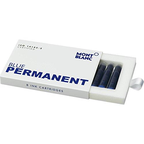 Montblanc 107758 Cartuchos de tinta de alta calidad Permanent Blue - Lujosas...