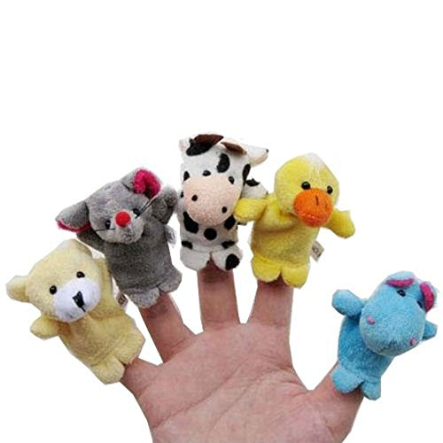 LATHPIN-Baby-Fingerpuppen-Fingertiere-Handkasperletheater-Puppets-Set-aus-Plsch-Tiere-zum-Spielen-und-Lernen