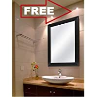 Creative Arts N Frame Sober Black Fiber Wood Wall Mirror || Size - 15 X 21 Inch || Solid Premium Black Water Resistant Fiber Wood Made || (Black, 1)