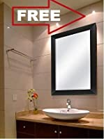 4 Mm High Quality Mirror With 2Inch Heavy Frame. Visible Mirror Size- 12X18Inch Or 31X46Cm. Outer Frame Size- 15X21Inch Or 38X53Cm. Acrylic Protection At Each Corner Of Frame To Make It Sturdier. Water Proof Rexine Protection At The Back Side Of The ...