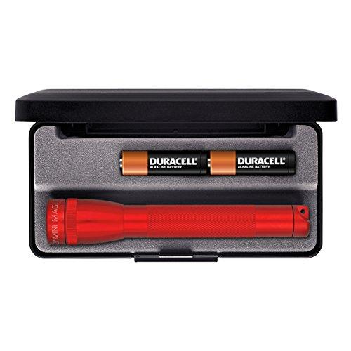 Mini Mag-Lite M2A03L Taschenlampe AA L.14,5cm rot f.2Mignon