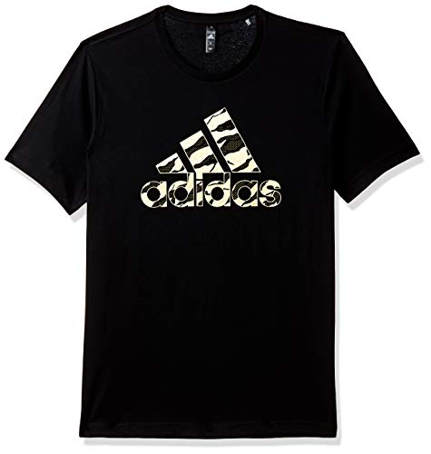 adidas Badge of Sport Foil Camo T- T-Shirt Homme, Black, FR : M (Taille Fabricant : M)
