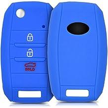 kwmobile Funda de silicona para llave de 3-4 botones para coche Kia - cover de llave - key case en azul