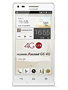 Huawei Ascend G6 Smartphone 4G débloqué 4,5 pouces Android 4.3 Jelly Bean 8 Go light gold(Import Europe)