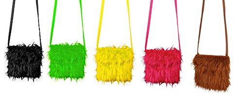 Orlob Plüschtasche Handtasche zum Hippie Kostüm Karneval Fasching gelb
