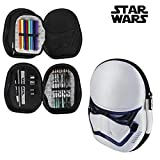 Star Wars Plumier con Relieve 3D, Color Azul, 23 cm (Artesanía Cerdá 2700000209)