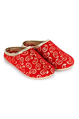 Bootie Pie Girl's Festo Majari Red Indian Shoes-12-18 Months (20 EU) (BPFM22K)