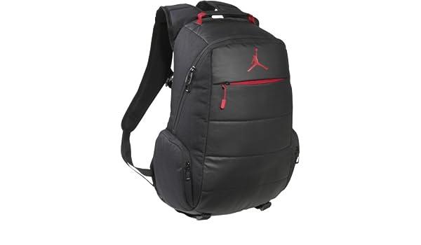 fc3e487b3b Nike Jordan Post Game Backpack (Black Gym Red)  Amazon.co.uk  Luggage