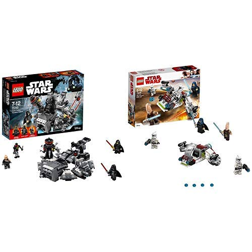 (LEGO Star Wars 75183 - Darth Vader Transformation Spielzeug &  Star Wars Jedi und Clone Troopers Battle Pack 75206 Star Wars Spielzeug)