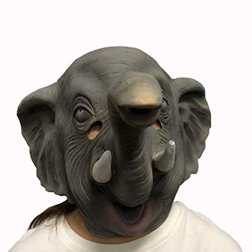 HuanXin Máscara de Elefante de Cabeza Completa de látex Máscara de Carnaval de Animal de Halloween