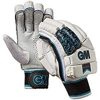 Gunn & Moore Diamond - Guantes de bateo, Diamante, Unisex Adulto, Color White/Silver/Black/Blue, tamaño Small Adult RH