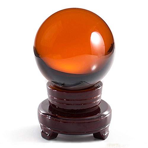 Große Kristallkugel Feine Verarbeitung Durchmesser 80mm (3,1 Zoll) Weissagung Ball Fotografie Requisiten Mit Ständer Exquisite