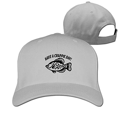 Zhgrong Have A Crappie Day Solid Travel Cap Baseball Cap Sport Hats for Men and Womens Flexfit Cap