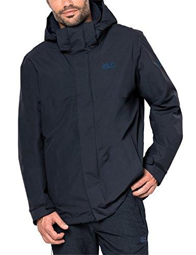 Jack Wolfskin Herren Seven Peaks Jacket Men Atmungsaktiv Wasserdicht Winddicht Outdoor Funktionsjacke Wanderjacke Regenjacke Wetterschutzjacke, Night Blue, XL