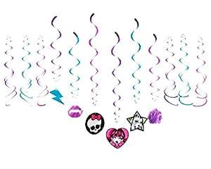 Monster High Girlanden Set - geschwungene Foliengirlanden mit Monster Highmotiven