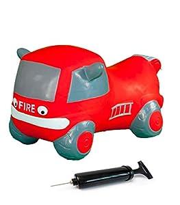 Jamara 460456-Coche saltarín Fire Truck con Bomba-Mejora el Equilibrio y Capacidad motora, Espejos Laterales como Soporte, Peso sostenible 50 Kg, Color Rojo (460456)