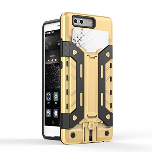 HUAWEI Case Cover HUAWEI P9 Cover, 2 In 1 Neue Rüstung Tough Style Hybrid Dual Layer Defender PC Hard Back Cover Stoßfestes Gehäuse mit Kartenfach Für HUAWEI P9 ( Color : 9 , Size : HUAWEI P9 ) 5
