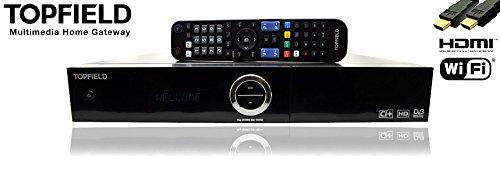 Topfield SRP 2401 CI+ Smart Pro 500GB Twin Sat Receiver HD+ | DVB S2 Tuner WLAN LAN HDMI USB Scart 5m Netzwerkkabel NA-DIGITAL PVR Modulsteckplatz für PayTV Timeshift | Android Satelliten Receiver