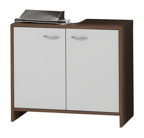 SB-Design 901-007 Madrid 7 - Armario para debajo del lavabo (aprox. 64 x 56,5 x 33 cm), color ciruelo y blanco
