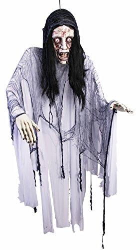 Preisvergleich Produktbild Horror Hänge Deko Bloody Mary Halloween Schocker Frauenleiche mit Stoffgewand ca 1,8 Meter riesig