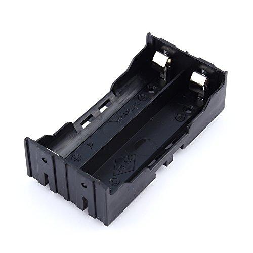 Zerone - Caja de almacenaje de 2 x 3,7 V 18650 ABS para contenedor de batería, con Pin
