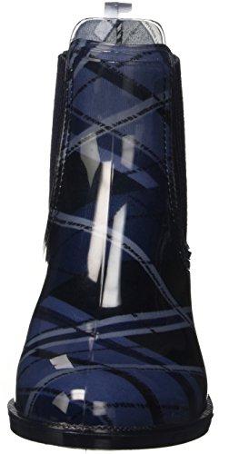 Tommy Hilfiger O1285dette 1r, Bottes Classiques femme Multicolore - Mehrfarbig (blue mix 490)