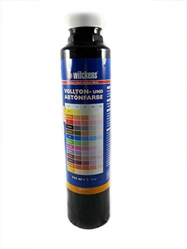 Qualitäts Abtoenfarbe - Volltonfarbe / 750 ml / matt - 14 Farben zur Auswahl (Schwarz)