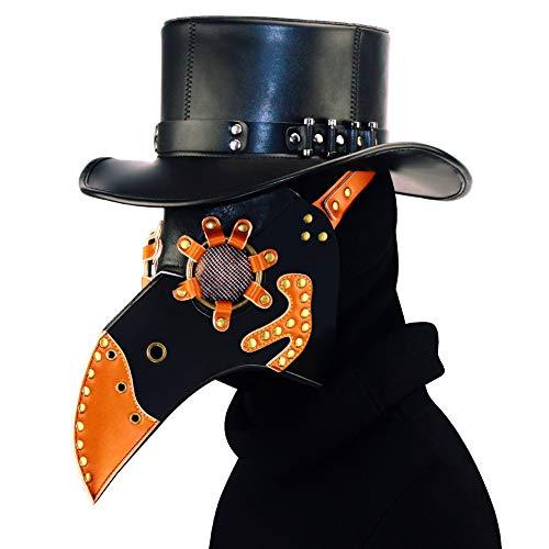 HWQ Halloween Steampunk Pest Schnabel Doktor Maske Cosplay Bar Party Requisiten Geschenke