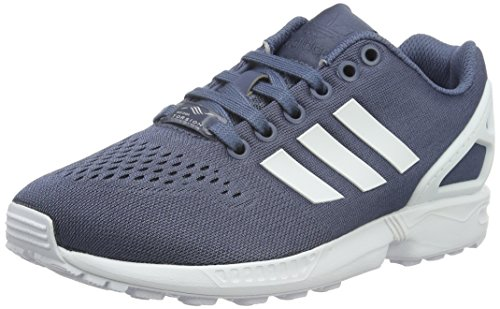 adidas Unisex-Erwachsene Zx Flux Em Low-Top Blau (Tech Ink/Ftwr White/Tech Ink)