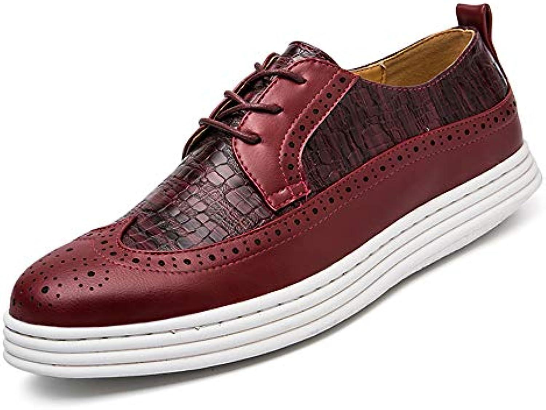Zapatos Oxford Brogue Casual Cocodrilo Ocasional Gruesa Inferior de Hombre