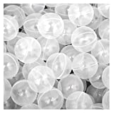 LittleTom 50 Bälle für Bällebad 5,5cm Babybälle Plastikbälle Baby Spielbälle Transparent