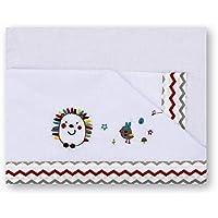 Pirulos 00313510 - Sábanas, diseño espin, 60 x 120 cm, color blanco y lino