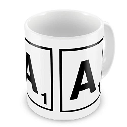 Scrabble Letter Gift Mug - Letter A - Classic/Retro