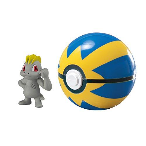 Pokémon T19139 Pokemon T19139-Tomy Pokéball für Unterwegs mit Machollo Machop und Quickball,, 0 (Pokemon Mit Pokeball)