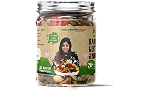 Super Healthy Mixed Nuts, Seeds and Berries - Organic Trail Mix | Assorted Dry Fruit Nut Mix with Seeds, Berries for Eating | 20+ Varieties like Almonds, Cashews, Cranberries, Pumpkin Seeds(325 Grams)