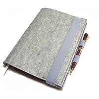Kalenderhülle Hülle Einband Wollfilz Filz mit Stifthalter für Din A5 Buchkalender, Notizbuch oder Maßanfertigung