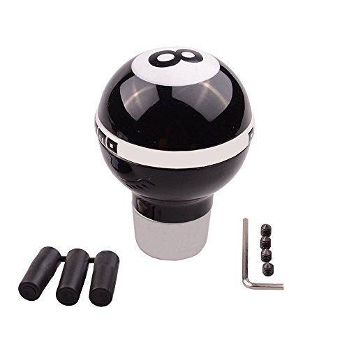 Preisvergleich Produktbild SMKJ Universal Auto Schaltknauf Schwarz 8 Ball kugel Schaltknüppel Shifter Knob für most Manuelles oder automatisches Getriebe Ohne RGA