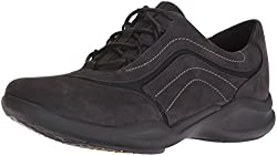 Clarks Women s Wave Skip Oxford Black Nubuck 5 B(M) US
