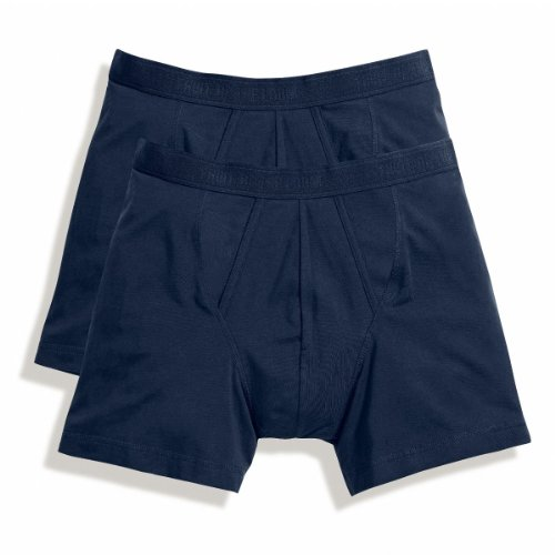 Fruit of the Loom Herren Boxershort 2 er Pack 170267 - Underwear Navy