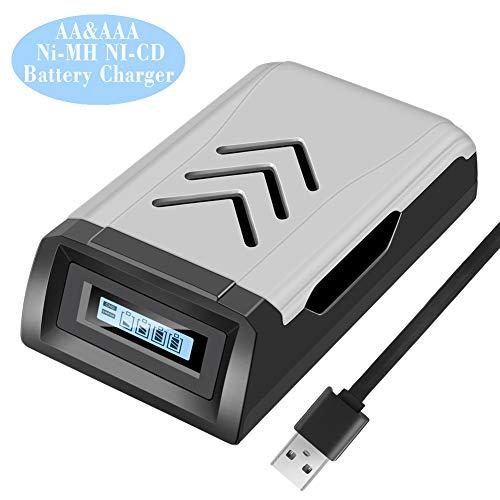 AA akku ladegerät, DUTISON 4 Schacht USB