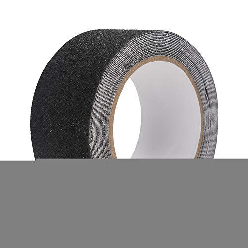 Hongzer Rutschfestes Klebeband, buntes 5M * 5cm PVC Rutschfestes Anti-Rutsch-Klebeband für Treppenstufen-Bodensicherheitsdekoration(Schwarz) (Beständig Non-slip-fünf)