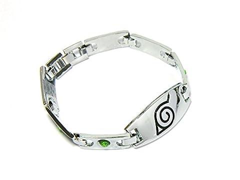 CoolChange Naruto Konoha Metall Armband mit Deko Steinen