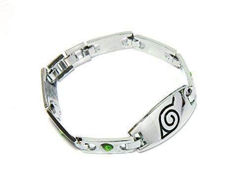 pulsera de Naruto Konoha con cristales brillantes