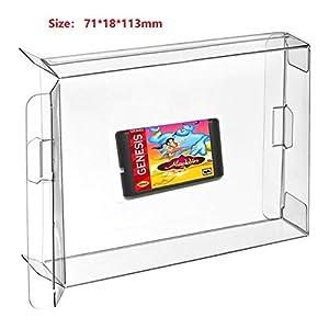 Ruitroliker 10Pcs Klar Spiele Cartridge Hülse Schutzhülle Sleeve für Mega Drive Genesis Box Patronen