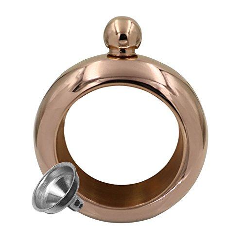 Bracelet/bracelet en acier inoxydable Flasque et entonnoir Bracelet Flasque pour l\'extérieur fête de voyage Camping pique-nique bronze
