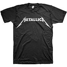 Metallica - Camiseta - Hombre de color Negro de talla Large - Metallica - Uomo Nero & Bianco Logo (Camiseta) In Nero, Large, Nero